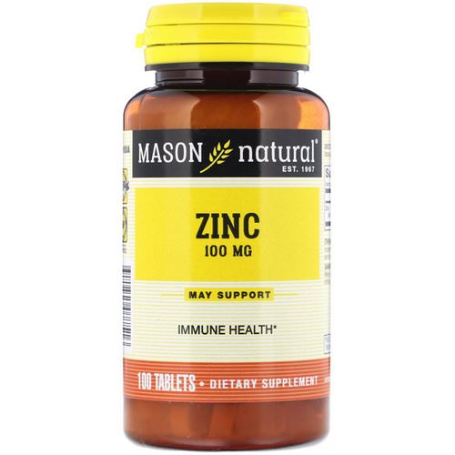 Mason Natural, Zinc, 100 mg, 100 Tablets فوائد
