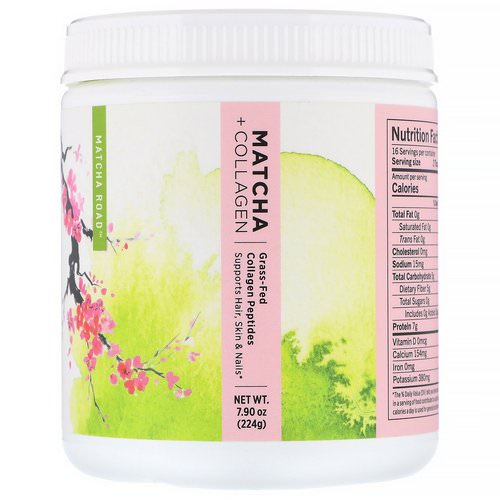 Matcha Road, Matcha + Collagen, Grass-Fed Collagen Peptides, 7.9 oz (224 g) فوائد