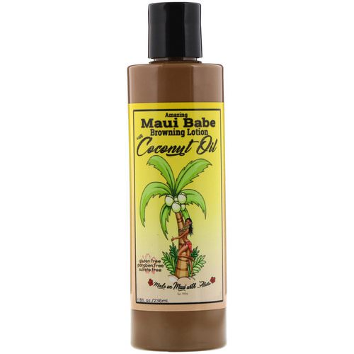 Maui Babe, Amazing Browning Lotion with Coconut Oil, 8 fl oz (236 ml) فوائد