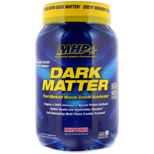 MHP, Dark Matter, Post-Workout Muscle Growth Accelerator, Fruit Punch, 3.44 lbs (1560 g) فوائد
