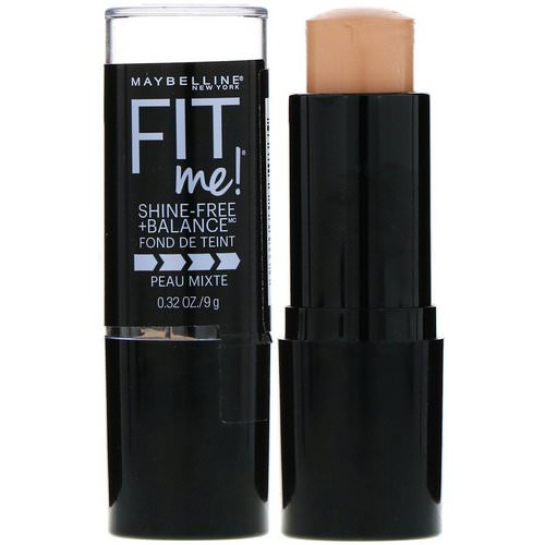 Maybelline, Fit Me, Shine-Free + Balance Stick Foundation, 130 Buff Beige, 0.32 oz (9 g) فوائد
