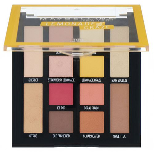 Maybelline, Lemonade Craze Eyeshadow Palette, 0.26 oz (7.4 g) فوائد