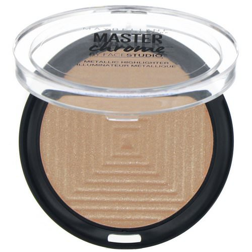 Maybelline, Master Chrome, Metallic Highlighter, Molten Topaz 200, 0.24 oz (6.7 g) فوائد