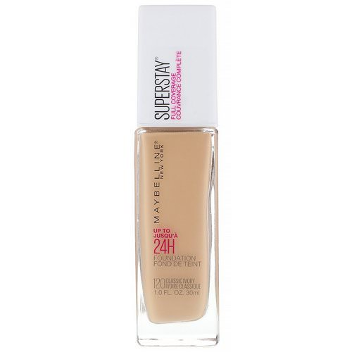 Maybelline, Super Stay, Full Coverage Foundation, 120 Classic Ivory, 1 fl oz (30 ml) فوائد