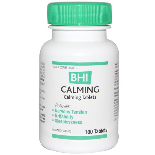 MediNatura, BHI, Calming, 100 Tablets فوائد