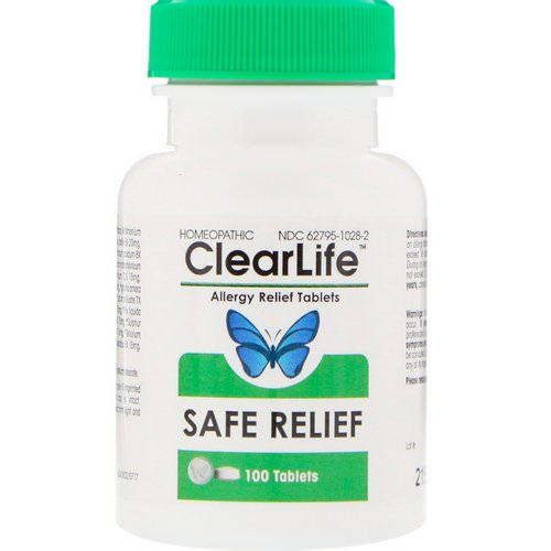 MediNatura, ClearLife, Safe Relief, Allergy Relief Tablets, 100 Tablets فوائد