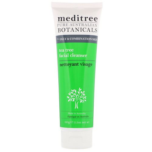 Meditree, Pure Australian Botanicals, Tea Tree Facial Cleanser, For Oily & Combination Skin, 3.5 oz (100 g) فوائد