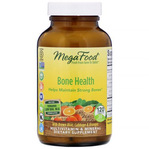 MegaFood, Bone Health, 120 Tablets فوائد