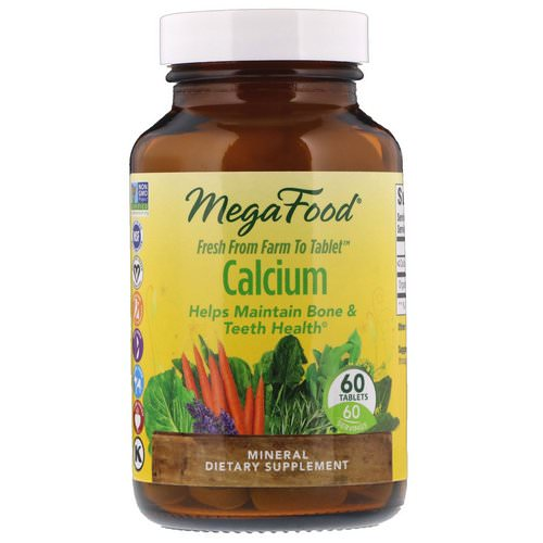 MegaFood, Calcium, 60 Tablets فوائد