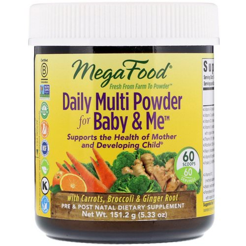 MegaFood, Daily Multi Powder for Baby & Me, 5.33 oz (151.2 g) فوائد