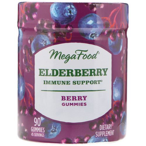 MegaFood, Elderberry, Immune Support, Berry, 90 Gummies فوائد