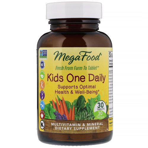 MegaFood, Kids One Daily, 30 Tablets فوائد