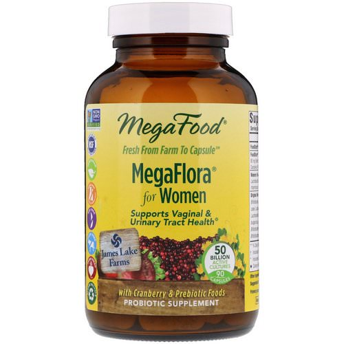 MegaFood, MegaFlora for Women, 90 Capsules (Ice) فوائد