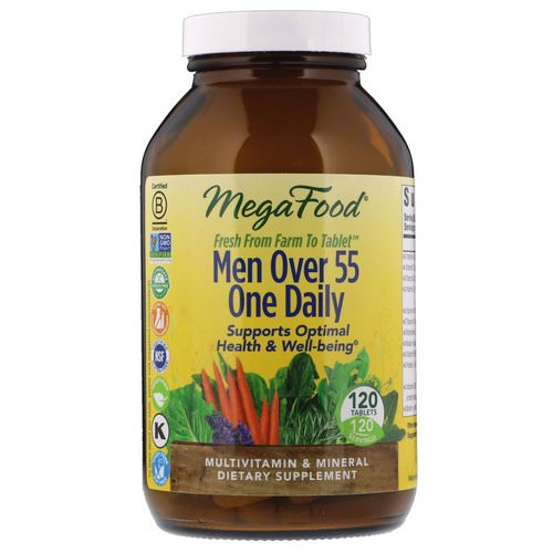 MegaFood, Men Over 55 One Daily, 120 Tablets فوائد