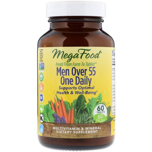 MegaFood, Men Over 55 One Daily, 60 Tablets فوائد