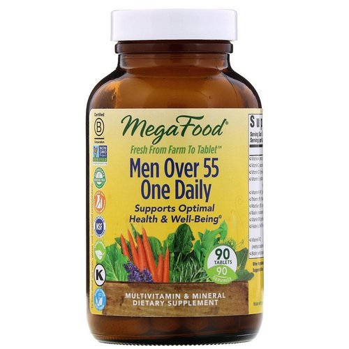 MegaFood, Men Over 55 One Daily, 90 Tablets فوائد
