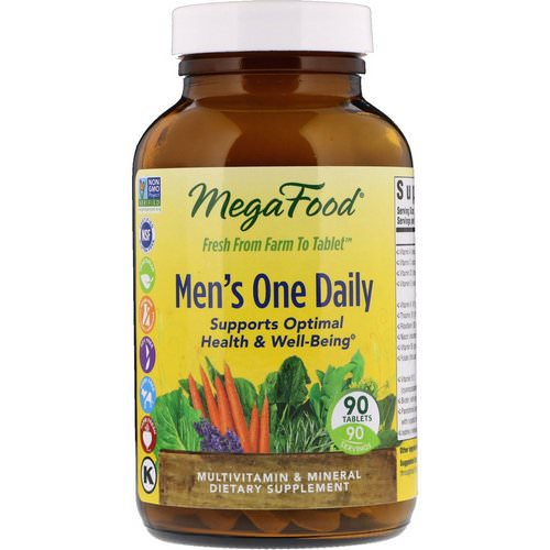 MegaFood, Men's One Daily, Iron Free, 90 Tablets فوائد