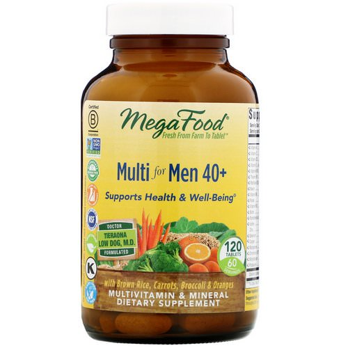 MegaFood, Multi for Men 40 +, 120 Tablets فوائد