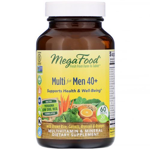 MegaFood, Multi for Men 40+, 60 Tablets فوائد