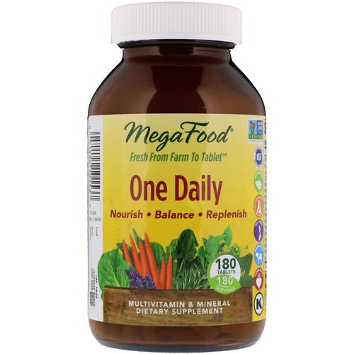 MegaFood, One Daily, 180 Tablets فوائد