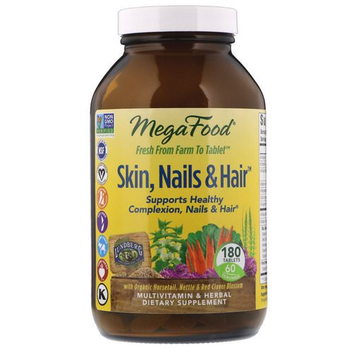 MegaFood, Skin, Nails & Hair, 180 Tablets فوائد
