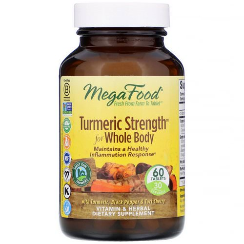 MegaFood, Turmeric Strength for Whole Body, 60 Tablets فوائد