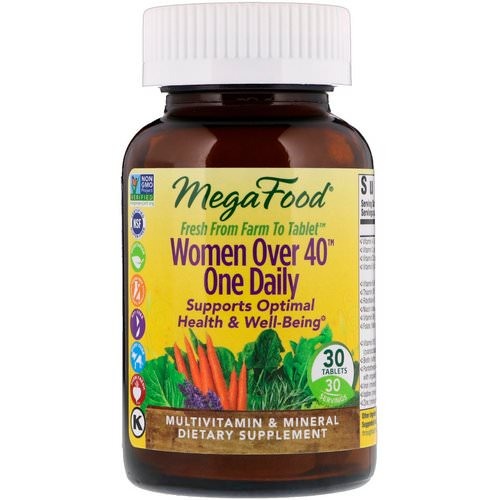 MegaFood, Women Over 40 One Daily, 30 Tablets فوائد