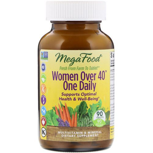 MegaFood, Women Over 40 One Daily, 90 Tablets فوائد