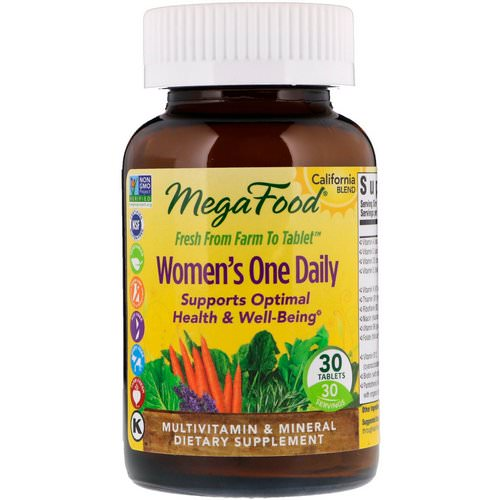 MegaFood, Women's One Daily, 30 Tablets فوائد
