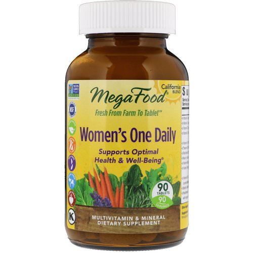 MegaFood, Women's One Daily, 90 Tablets فوائد