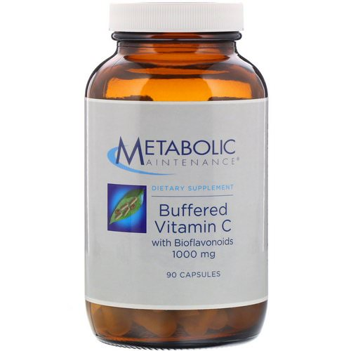 Metabolic Maintenance, Buffered Vitamin C with Bioflavonoids, 1,000 mg, 90 Capsules فوائد