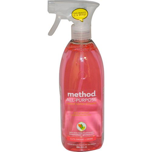 Method, All Purpose Natural Derived Surface Cleaner, Pink Grapefruit, 28 fl oz (828 ml) فوائد