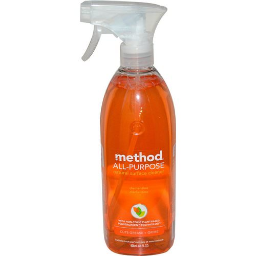 Method, All-Purpose Natural Surface Cleaner, Clementine, 28 fl oz (828 ml) فوائد