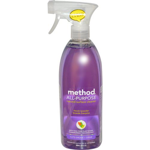 Method, All-Purpose Natural Surface Cleaner, French Lavender, 28 fl oz (828 ml) فوائد