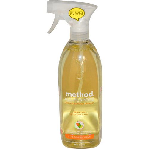 Method, All-Purpose Natural Surface Cleaner, Ginger Yuzu, 28 fl oz (828 ml) فوائد