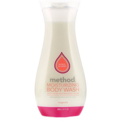 Method, Moisturizing Body Wash, Magnolia, 18 fl oz (532 ml) فوائد