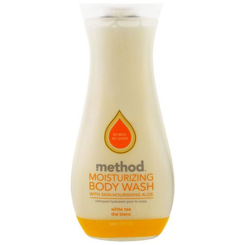 Method, Moisturizing Body Wash, White Tea, 18 fl oz (532 ml) فوائد