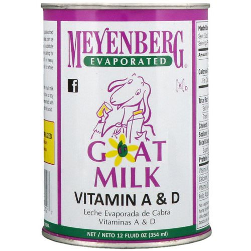 Meyenberg Goat Milk, Evaporated Goat Milk, Vitamin A & D, 12 fl oz (354 ml) فوائد