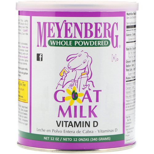 Meyenberg Goat Milk, Whole Powdered Goat Milk, Vitamin D, 12 oz (340 g) فوائد