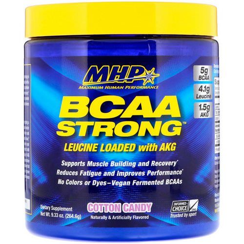 MHP, BCAA Strong, Cotton Candy, 9.33 oz (264.6 g) فوائد