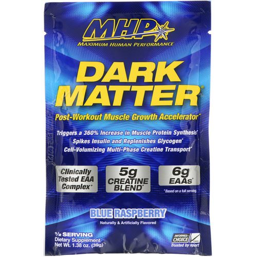 MHP, Dark Matter, Post-Workout Muscle Growth Accelerator, Blue Rasperry, 1.38 oz (39 g) فوائد