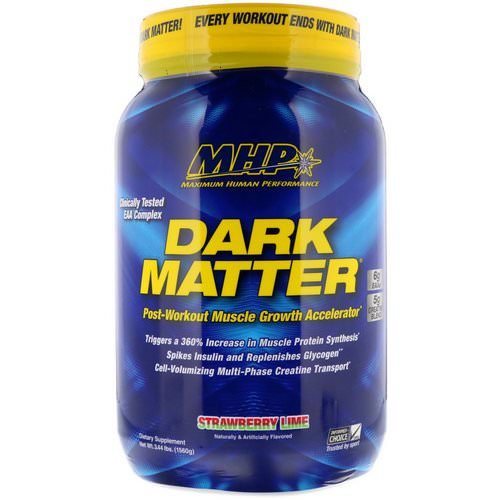 MHP, Dark Matter, Post-Workout Muscle Growth Accelerator, Strawberry Lime, 3.44 lbs (1560 g) فوائد