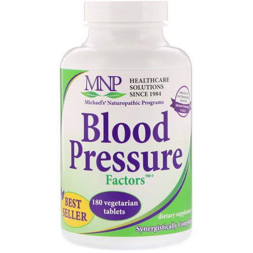 Michael's Naturopathic, Blood Pressure Factors, 180 Vegetarian Tablets فوائد