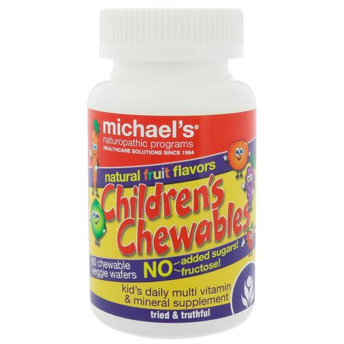 Michael's Naturopathic, Children's Chewables, Natural Fruit Flavors, 60 Chewable Veggie Wafers فوائد