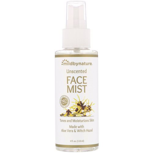 Mild By Nature, Witch Hazel, Unscented, Face Mist, Alcohol-Free, 4 fl oz (118 ml) فوائد