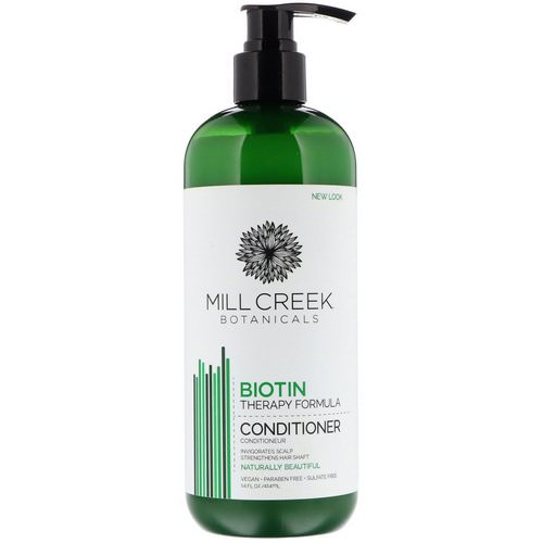 Mill Creek Botanicals, Biotin Conditioner, Therapy Formula, 14 fl oz (414 ml) فوائد