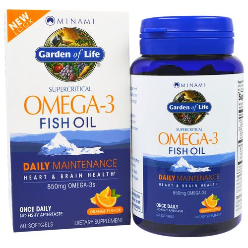 Minami Nutrition, Supercritical, Omega-3 Fish Oil, 850 mg, Orange Flavor, 60 Softgels فوائد