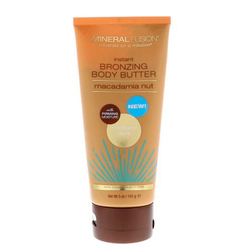 Mineral Fusion, Instant Bronzing Body Butter, Medium/Dark, Macadamia Nut, 5 oz (141 g) فوائد