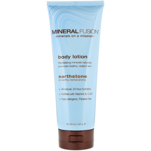 Mineral Fusion, Body Lotion, Earthstone, 8 oz (227 g) فوائد