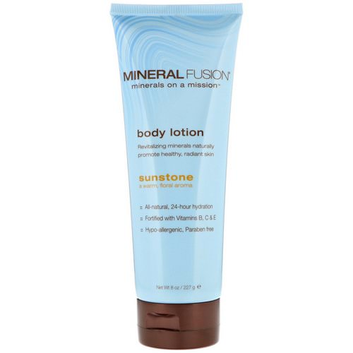Mineral Fusion, Body Lotion, Sunstone, 8 oz (227 g) فوائد